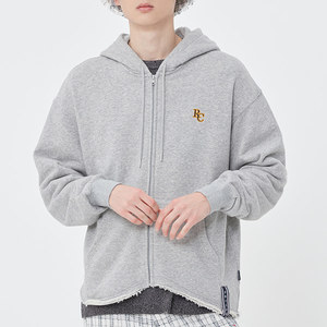 WAVE CUT HOOD ZIP UP_GREY