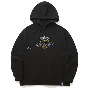WOMAN RABBIT HOODIE_BLACK