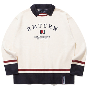 RMTCRW CLUB COLLAR KNIT_OATMEAL