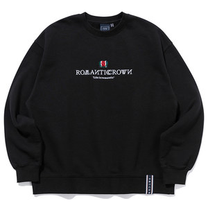 INTERVAL LOGO SWEAT SHIRT_BLACK