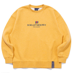 INTERVAL LOGO SWEAT SHIRT_MELANGE YELLOW
