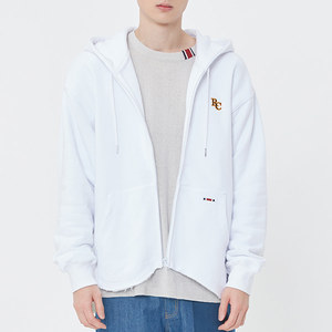 WAVE CUT HOOD ZIP UP_WHITE