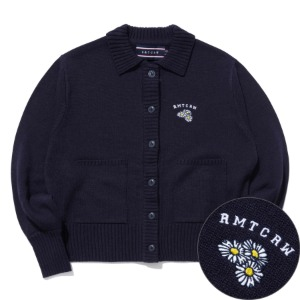 BALLOON SLEEVE KNIT CARDIGAN_NAVY