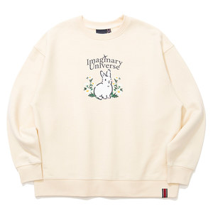 WOMAN RABBIT SWEAT SHIRT_OATMEAL