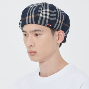 CLACK CHECK NEWSBOY CAP_NAVY