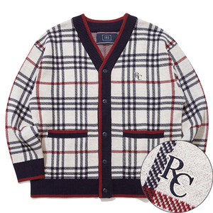 CLASSIC CHECK CARDIGAN_OATMEAL