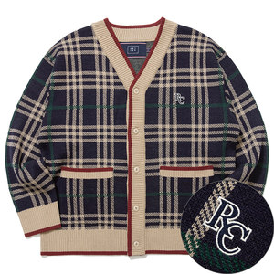 CLASSIC CHECK CARDIGAN_NAVY