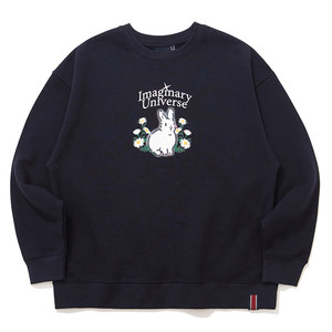 WOMAN RABBIT SWEAT SHIRT_NAVY