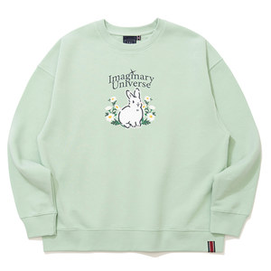WOMAN RABBIT SWEAT SHIRT_LIGHT GREEN