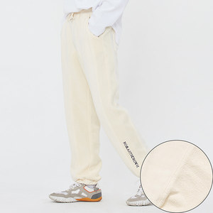 REVERSE STITCH SWEAT PANTS_OATMEAL