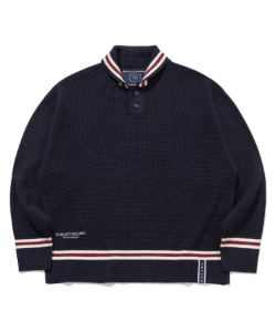 SHAWL COLLAR KNITWEAR_NAVY
