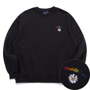 RAINBOW LOGO SWEAT SHIRT_BLACK