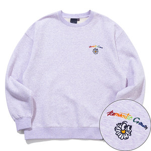 RAINBOW LOGO SWEAT SHIRT_MELANGE LIGHT PURPLE