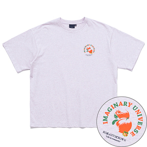 COLOR DOT ORANGE TEE_MELANGE LIGHT PURPLE