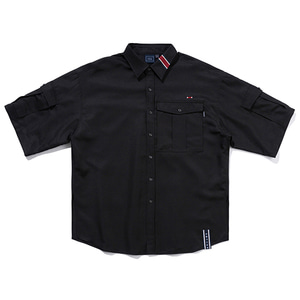 RELAX POCKET SHIRT_BLACK