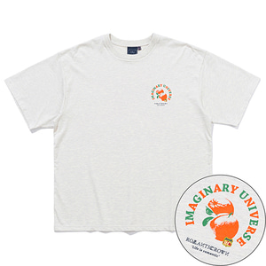 COLOR DOT ORANGE TEE_MELANGE IVORY