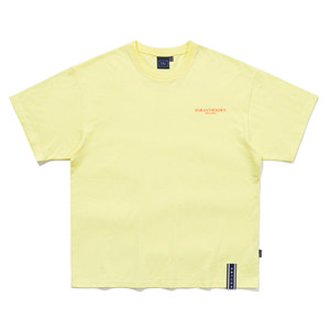 SLOGAN LIST LOGO TEE_LIGHT YELLOW