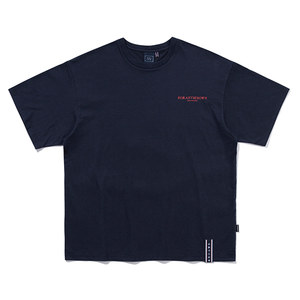 SLOGAN LIST LOGO TEE_NAVY