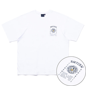 FLOWER FACE SLOGAN TEE_WHITE