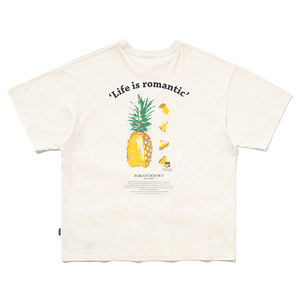 COLOR DOT PINEAPPLE TEE_OATMEAL
