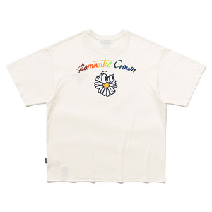 FLOWER FACE LOGO TEE_OATMEAL