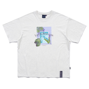 TROPICAL POOL TEE_MELANGE IVORY