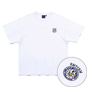 FLOWER FACE BACK LINE TEE_WHITE